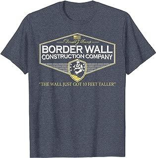 Mens USA Donald Trump Border Wall Construction Co T-Shirt