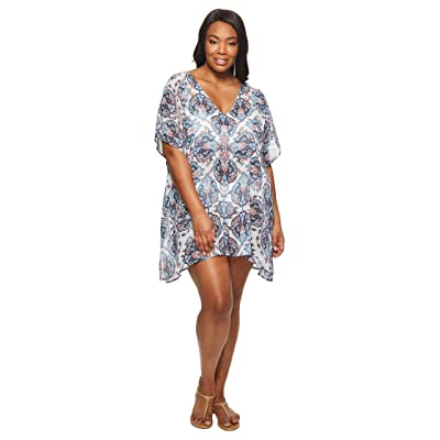 BECCA by Rebecca Virtue Plus Size Naples Tunic Cover-Up (Multi) Women