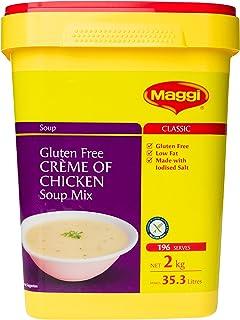MAGGI Gluten Free Crème of Chicken Soup Mix, 2kg (Makes 35.3 litres, 196 Serves)
