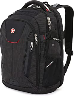 "SwissGear 5358 USB ScanSmart Laptop Backpack. Abrasion-Resistant & Travel-Friendly Laptop Backpack (18"", Black/Red)."