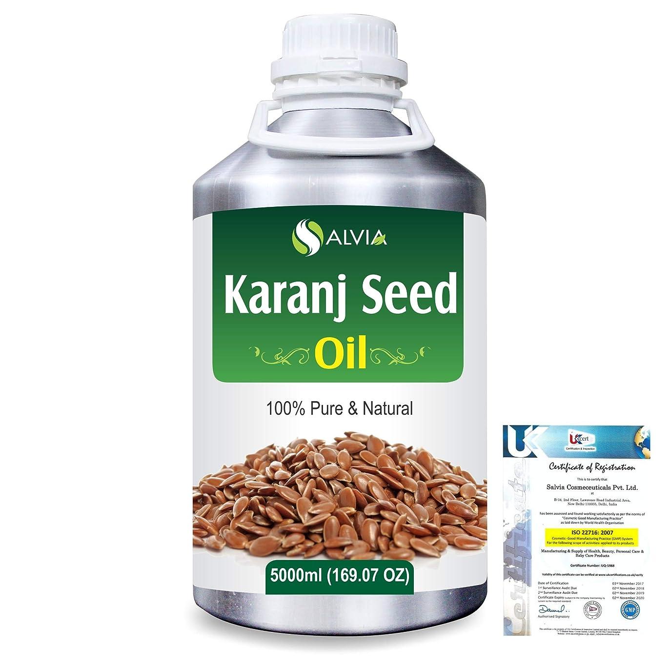 ハンディキャップ確かに階下Karanj Seed (Pongamia glabra) Natural Pure Undiluted Uncut Carrier Oil 5000ml/169 fl.oz.