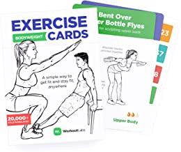 WorkoutLabs Exercise Cards: Bodyweight – Home Workout Cards Deck for Women and Men with 60 Exercises and 12 No Equipment R...