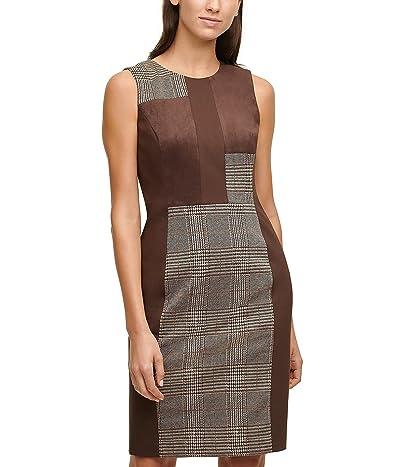 Calvin Klein Mixed Media Sheath Dress