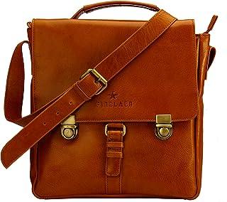 Men's Vintage Crossover Crossbody Bag in Genuine Leather | Finelaer