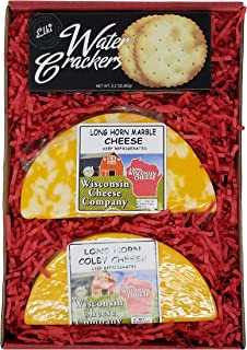 WISCONSIN CHEESE COMPANY's - Classic Colby Longhorn Cheese & Cracker Gift Box. Quality Colby & Marble Long Horn Cheese, A ...