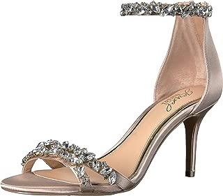 Jewel Badgley Mischka Women's Caroline Dress Sandal, Champagne Satin, 8 M US