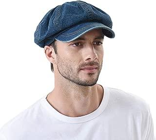 Denim Cotton Newsboy Hat Baker Boy Beret Flat Cap KR3613