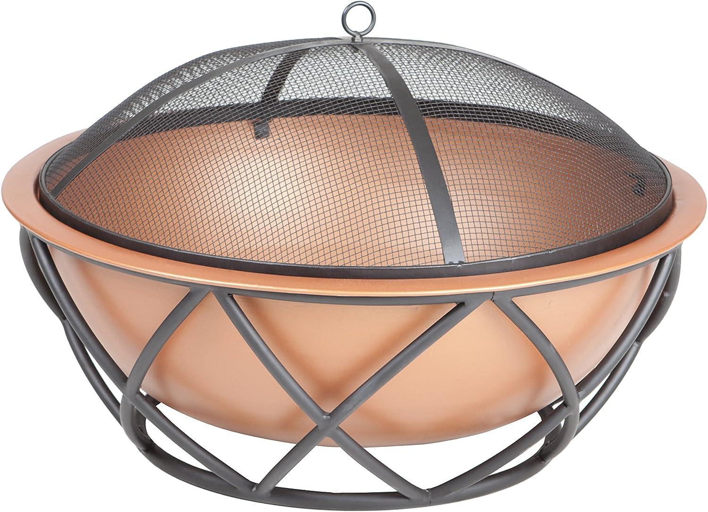 Fire Sense Barzelonia Round Copper Look Fire Pit – Best Lightweight Model