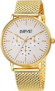 August Steiner Men's Quartz Watch, Analog Display and Stainless Steel Strap