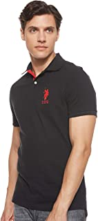 U.S. POLO ASSN. Mens Slim Fit Solid Polo Shirt