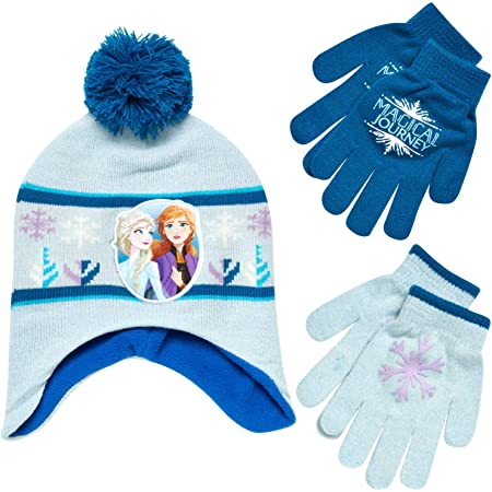 Thermal Cute Unicorn Girl/'s Hat Knite Gloves Fit for Age of 7~13 Kids QKURT Winter Beanie Hat Gloves Set