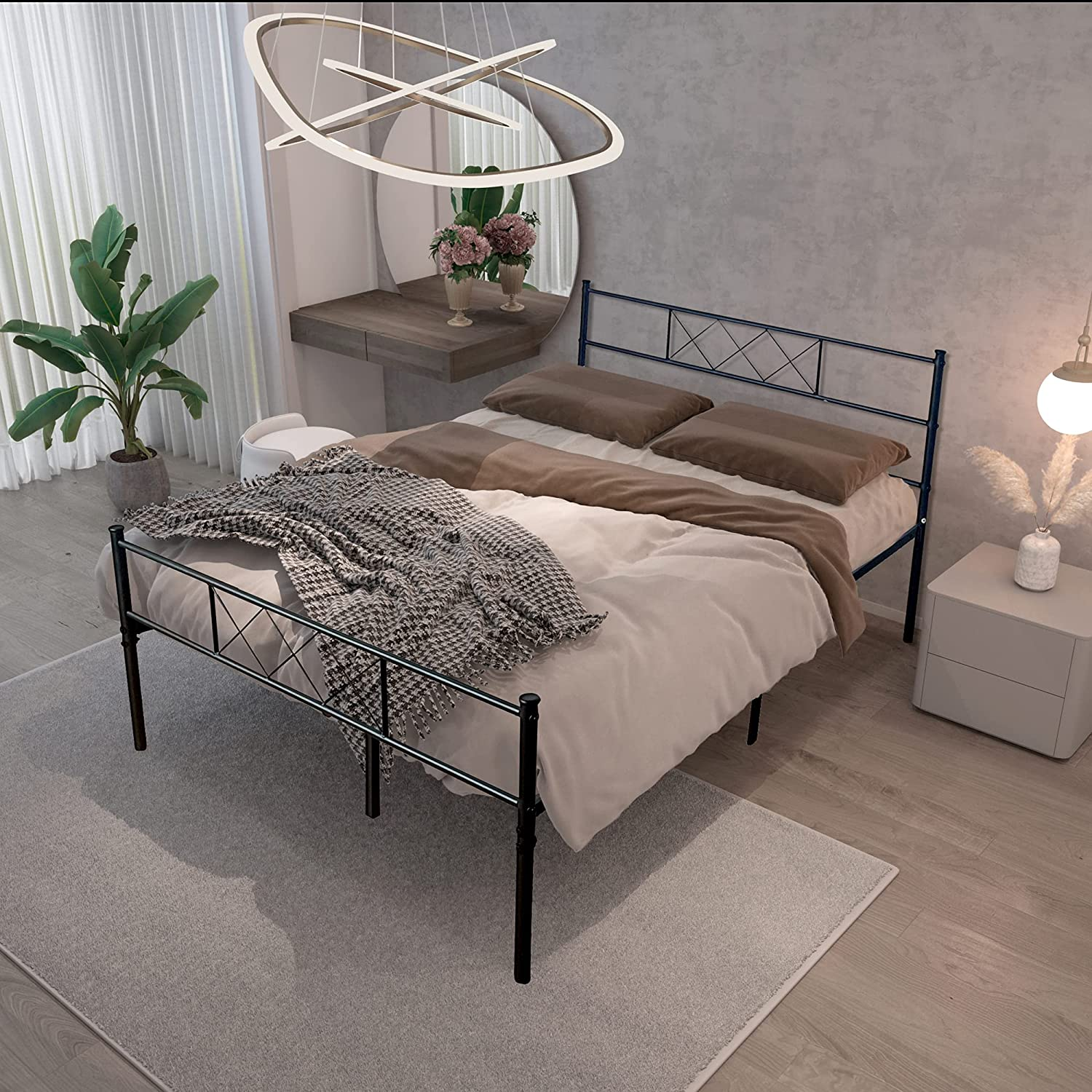 Heavy Duty Metal Bed Frames Full S Underbed Box Ranking TOP18 Sale price No Spring Needed