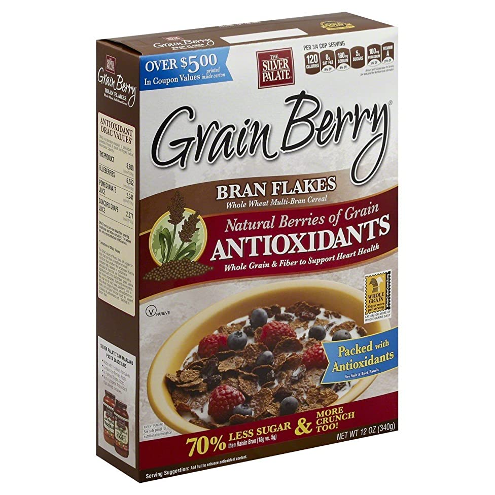 Grain Berry Cereal,?BRAN FLAKES, (The Silver Palate), 12 OZ (Pack of 6)