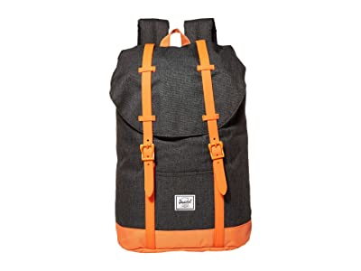 Herschel Supply Co. Kids Retreat Youth (Little Kids/Big Kids) (Black Crosshatch/Firecracker) Backpack Bags