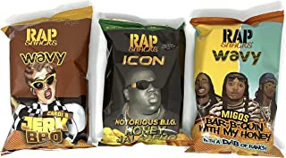 Rap Snacks 2.75 oz Potato Chip Bags Variety Pack of 3 Flavors