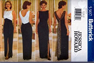 Vintage Butterick Sewing Pattern 5307 c1997 JESSIKA HOWARD Misses Evening Gown, Size 8-10-12