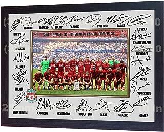 S&E DESING 2019 Liverpool MO Salah Mohamed Mane FIRMINO Full Signed Photo Poster Framed