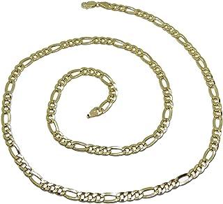 Never Say Never - Catena da uomo in oro 18 carati, 3 x 1 mm di larghezza x 60 cm di lunghezza con chiusura a moschettone 1...