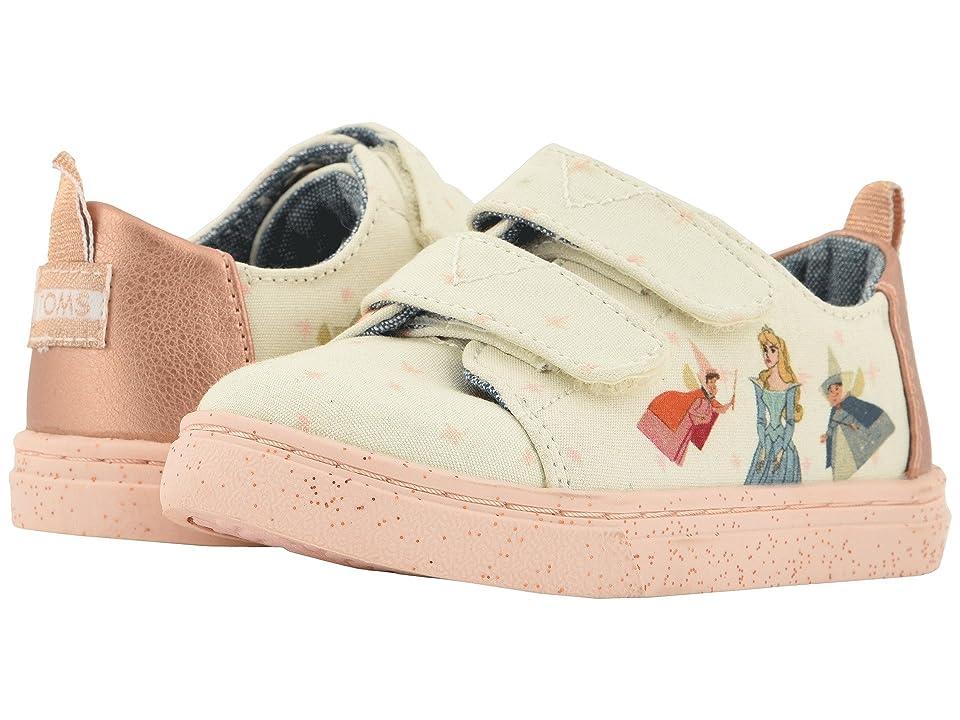 TOMS Kids Lenny Disney(r) Princesses (Infant/Toddler/Little Kid) (Pink Fairy Godmother Printed Canvas) Girl