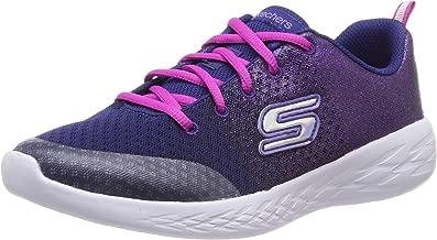 Skechers Kids Girl's GO Run 600-SPARKLE Speed Shoe, Navy/Pink, 2 Medium US Little Kid