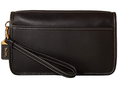COACH Britt Wristlet (B4/Black) Handbags
