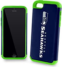 Forever Collectibles Dual Hybrid 2-Piece TPU Case for iPhone 5c - Retail Packaging - Seattle Seahawks