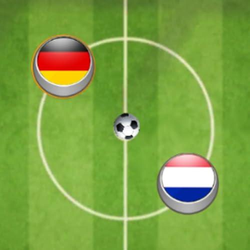 Button Fußball - Spielen mit den Fingern