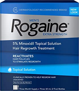Men's Rogaine Extra Strength 5% Minoxidil Topical Solution for Hair Loss and Hair..