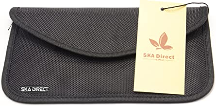 Ska Direct 100% Anti-Tracking Anti-Spying GPS RFID Signal Blocker Pouch Case Bag Handset Function Bag for Cell Phone Privacy Protection and Car Key FOB - (Black)
