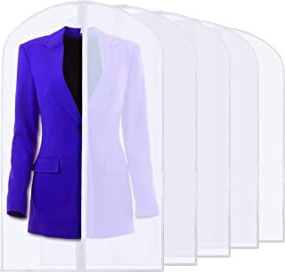 clear plastic garment bags with pockets