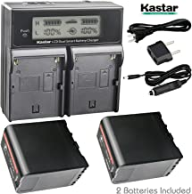 Kastar LCD Dual Fast Charger + 2 Battery for Sony BP-U60, BPU60, BPU65 and PMW-100, PMW-150, PMW-160, PMW-200, PMW-300, PMW-EX1, EX3, PMW-EX160, PMW-EX260, PMW-EX280, PMW-F3, PXW-FS5, PXW-FS7, PXW-FX9