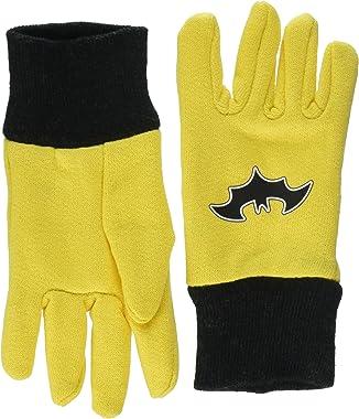 Midwest Gloves & Gear SFB102T-T-AZ-6 Kids Batman Jersey Glove, Size Toddler, Yellow/Black