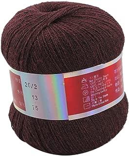 Celine lin One Skein Pure Cashmere Knitting Yarn,Dark Red