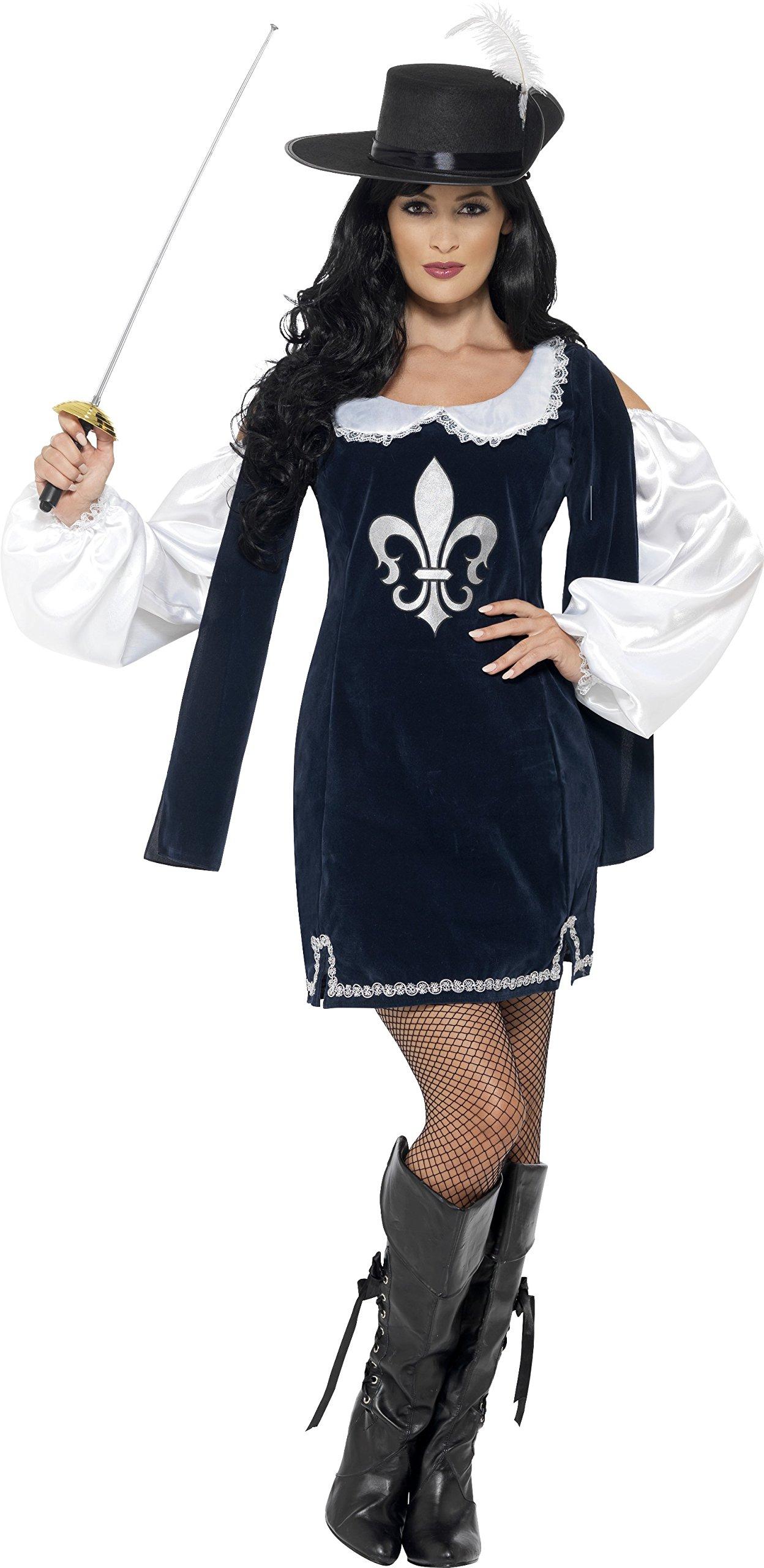 SmiffyS 43416S Traje Femenino De Mosquetero Marino Con Vestido Y ...