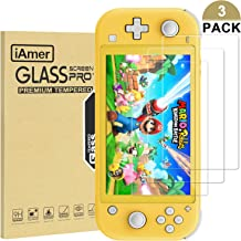 iAmer Tempered Glass Screen Protector for Nintendo Switch Lite 2019,Transparent HD Clear Anti-Scratch with Anti-Fingerprint Bubble-Free Fit Switch Lite(3 Pack)