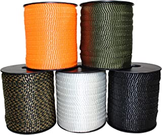 Polyester Webbing (5/8 inch) - SGT KNOTS - Flat Rope - Durable Polyester Pull Tape Strap - Moisture, UV, Rot, Oil & Gas Resistant - Utility, Arborist, Gardening, Marine, Commercial (100 ft - White)