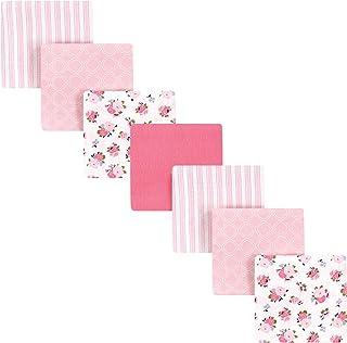 Luvable Friends Unisex Baby Cotton Flannel Receiving Blankets Bundle, Garden, One Size