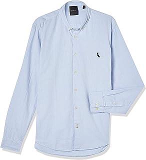 Camisa Cont. Sport Oxford Ml Fio Tinto, Reserva, Masculino, Azul Claro, G
