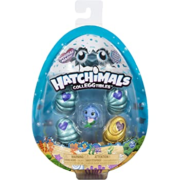 Hatchimals Colleggtibles, Mermal Magic 4 Pack + Bonus with Season 5 for Kids Aged 5 & Up (Styles May Vary), Multicolor