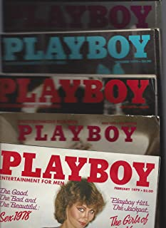 Five 1979 Issues of Playboy Magazine (February, May, July, October, November)