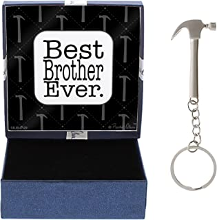 Graduation Gift Idea Best Brother Ever Big Brother Gift for Little Brother Hammer Keychain & Gift Box Bundle