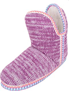 ABSOLUTE FOOTWEAR Ladies/Womens Slip On Slippers/Boots/Indoor Shoes with Warm Faux Fur Inners