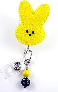 Easter Bunnyイエロー?–?ナースバッジリール?–?Retractable IDバッジホルダー?–?ナースバッジ?–?バッジクリップ?–?バッジReels?–?Pediatric?–?RN?–?名前バッジホルダー
