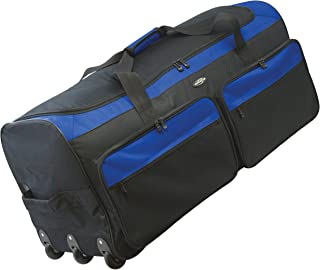 "Travelers Club 36"" 3-Wheel Rolling Expandable Duffle Bag, Blue Option"