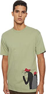 VANS Men's Yusuke Surfers ss Tees And T-Shirts, Green (Oil Green Td8), Small