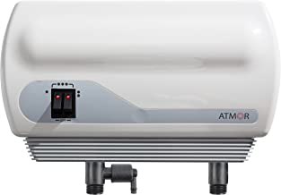 Atmor AH-900-3 Hand Washing Single Point-of-Use Tankless Electric Instant Water Heater with Pressure Relief Device (PRD) and 0.5 GPM Sink Aerator, 3kW/110V, 3.5kw/110v, White