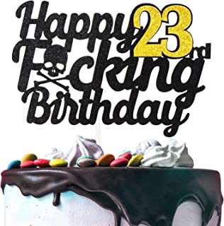 Happy 23rd Birthday Cake Topper Handmade Birthday Gift Funny 23 Birthday 23 Years Old Bday Party Decoration Sign