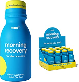 Morning Recovery: Patent-Pending Liver Detox Drink (Pack of 12) - New & Improved Original Lemon Flavor - Highly Bioavailab...