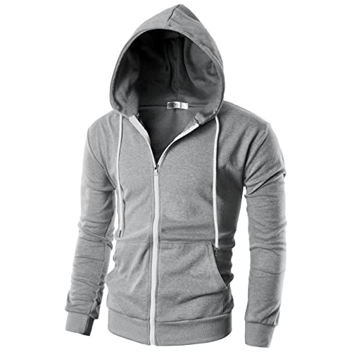 Men's Grey Hoodie: Amazon.com