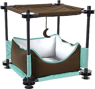 Kitty City Steel Claw Sleeper Cat Bed Furniture, black c (SPO-0584)